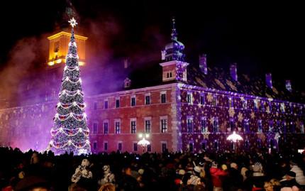 Рождественские огни Варшавы